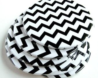 Black & White Home Decor // Chevron Coasters // Set of 6