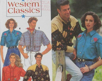 Simplicity Western Shirt Pattern 8190