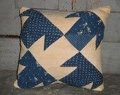 Vintage Blue Quilt Pillow