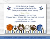 Cute Sports Baby Shower I...