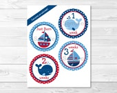 Cute Nautical Monthly Mil...