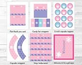 Pink Snowflake Winter Bab...