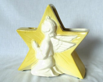 Vintage Royal Copely Star Planter Candle Holder Sconce -  Angel - Christmas Decor - Christmas in July - CIJ