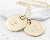 14k Gold Initial Necklace Personalized Jewelry Personalized Solid Gold Mothers Necklace Initial Jewelry Mother's Day Gift Holiday Gift