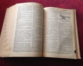 Summer Sale- vintage 1953 dictionary- Websters