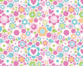 50% OFF Sweet Home Floral Pink - 1/2 Yard