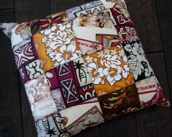 Tropical Patchwork Cotton Fabric Decorative PIllow