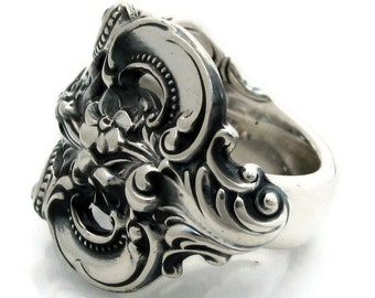Spoon Ring Size 6 to 13 Sterling Silver Grand Baroque 1941