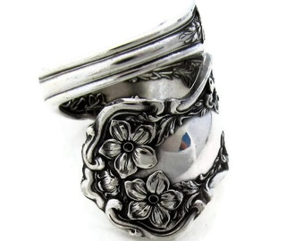 Spoon Ring, Chester Choose Your Size 1900 Pattern Wrapped