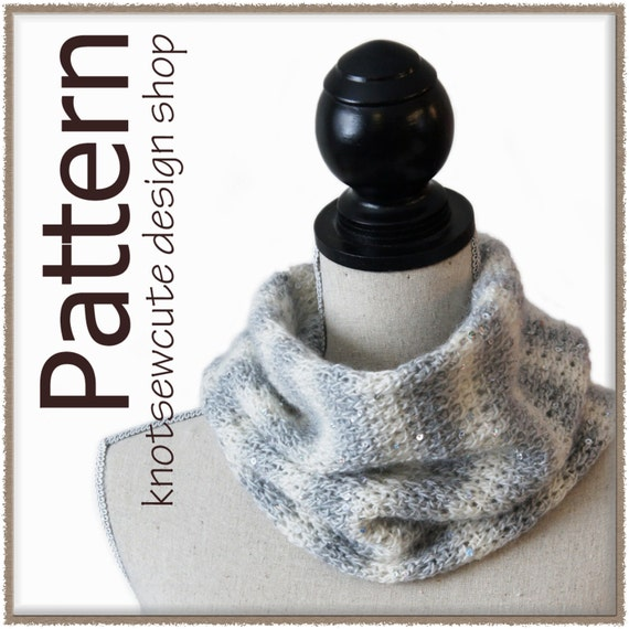 Morning Frost Cowl - Tunisian Crochet Pattern (PDF)  - INSTANT DOWNLOAD