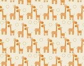 Riley Blake Giraffe Crossing Flannel Fabric, 1 yard