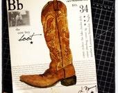 Louisiana Cowboy Boot on 8x10 Canvas