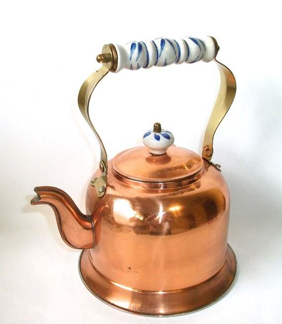 Vintage Copper Teapot 74