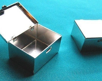 Silver Plated Small Boxes (6)