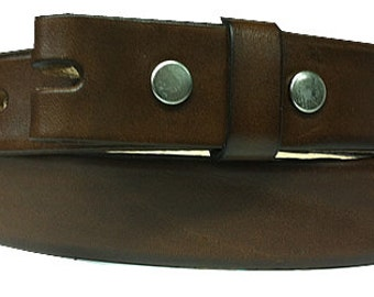 "Gorgeous Brown Leather Belt Strap -Snap On- Mens Womens- Genuine Cowhide - 1.5"" 38mm - Size 30 32 34 36 38 40 42 44 - 25+ OTHER STYLES AVAIL"