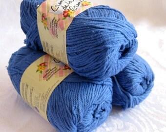 Creme de la Creme Cotton Yarn, ROYAL BLUE cotton yarn, dishcloth cotton