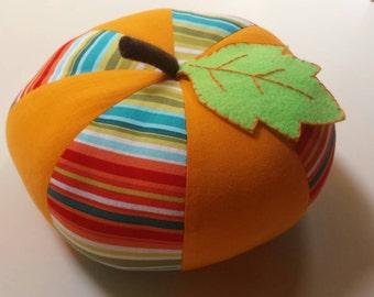 Large Stripey Pumpkin