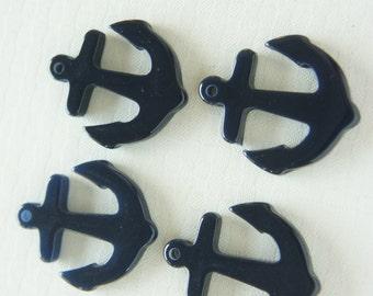 6 pcs Small Anchor Charm (28mm33mm) Dark Navy AZ001