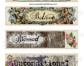 Scrapbook Word Tags- High quality digital full size sheet - Printable Download -