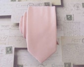 Mens Ties Inspired by David's Bridal Ballet Mens Ties Pocket Square Necktie Dusty Pink Skinny Tie With Matching Pocket Square Option