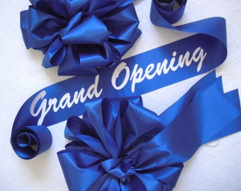 Grand Opening Ribbon and Handmade Bows Set