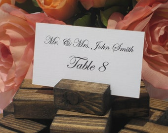 Place Card Holder + Wood Place Card Holder + Rustic Wedding Place Card Holders- Set of 100