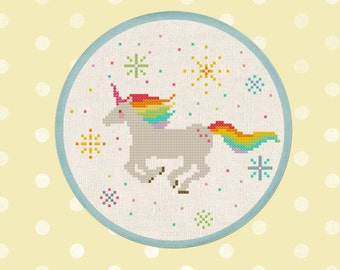 Rainbow Unicorn. Best Seller Cross Stitch Pattern PDF Instant Download