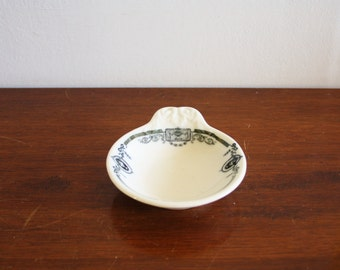 Vintage white porcelain pin dish