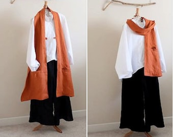 perfect  linen outfit  handmade to measure petite to plus size by annyschoo