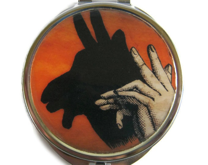 Billy Goat Shadow Puppet Compact Mirror Pocket Mirror Large Gifts for her