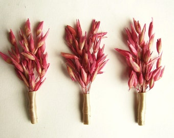 Wild Oat Wedding Boutonniere