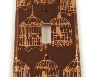 Light Switch Cover Wall Decor  Light Switchplate in Gilded Cage (097S)