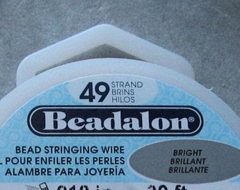 Beadalon 49 Strand .015 100 Foot Spool Beading Wire