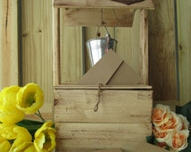 Wedding Wishing Well Distressed Rustic Wood Personalized - Item 1615