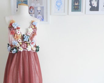 OPHELIA - floral bodice & mesh