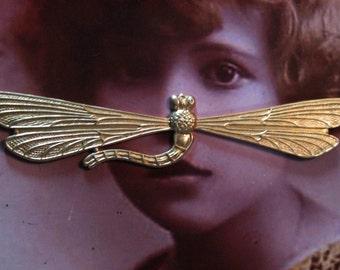 Raw Brass Dragonfly Stamping 652RAW x1