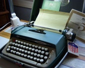 Vintage Working Smith Corona Portable Typewriter with Case Galaxy 2