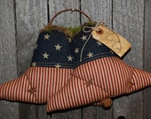 Let Freedom Ring Americana Liberty Bell Wall Hanging Primitive Door Greeter
