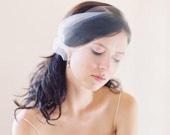 Wedding veil, birdcage blusher veil, bandeau bridal veil - Silhouette Style 1998