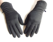 Black Mid Length Vintage Dress Gloves with Bow