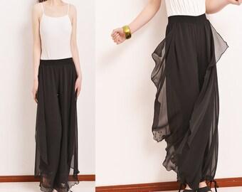 Beyond Time - pleated chiffon skirt pants (K5101)