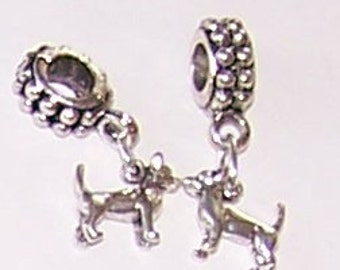 Sterling CHIHUAHUA Bead Charm for all Name Brand Add a Bead Bracelets  3D