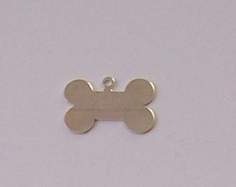 Sterling Silver Engraveable DOG BONE Charm