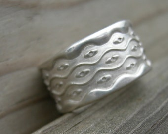 MADE TO ORDER Mid-Century Mojo Ring Sterling Silver Size