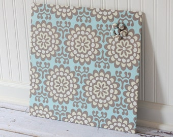 Magnetic Board 16inx16in No Frame - Amy Butler Lotus Fabric