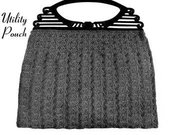"Vintage Crochet Pattern 1930's Gimp Purse Pattern ""The Utility Pouch"" -INSTANT DOWNLOAD-"