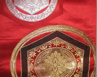 Red Silk Obi Sash