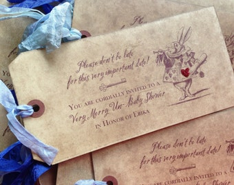 Alice in Wonderland  Invitation - Wonderland WEDDING - BIRTHDAY - SHOWER