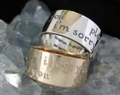 Ho'oponopono Ring - Sterling Silver - Wide Band