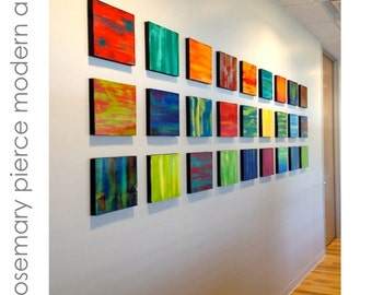 Modern Wall Sculptures | Painted Wood Art | Art Installation | Abstract Panels | Contemporary Art | Custom Art | Wood Art | Rosemary Pierce